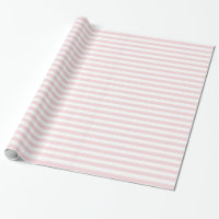 Stripes - White and Pale Pink Wrapping Paper