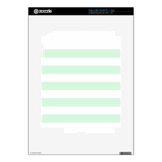 Stripes - White and Pastel Green iPad 2 Decal