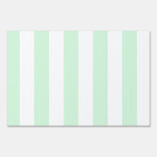 Stripes - White and Pastel Green Yard Sign