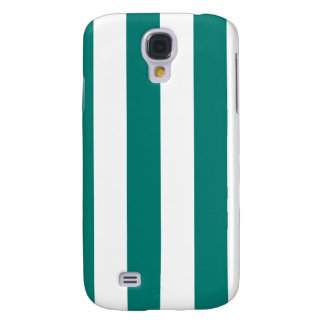 Stripes - White and Pine Green Galaxy S4 Cover