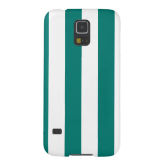 Stripes - White and Pine Green Galaxy S5 Cover