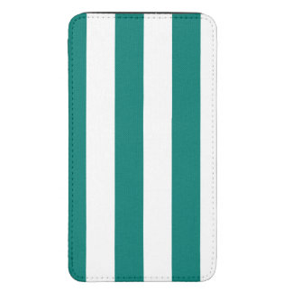 Stripes - White and Pine Green
