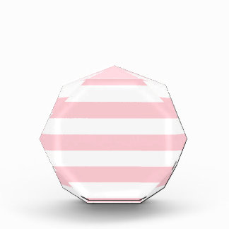 Stripes - White and Pink Acrylic Award