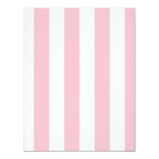 Stripes - White and Pink 4.25x5.5 Paper Invitation Card