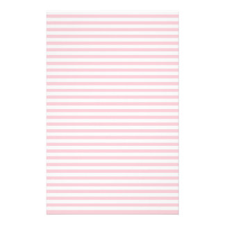 Stripes - White and Pink Stationery