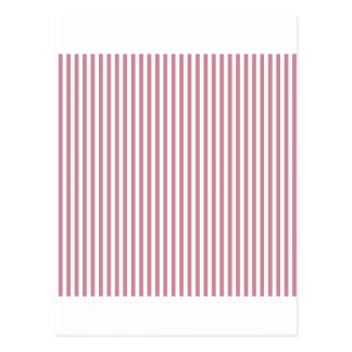 Stripes - White and Puce Postcard