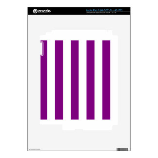 Stripes - White and Purple Decals For iPad 3