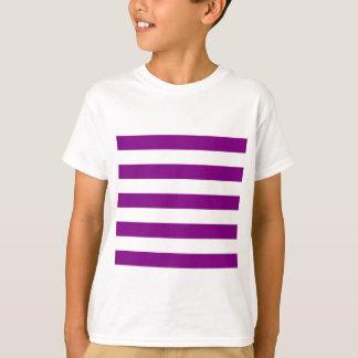 Stripes - White and Purple T-Shirt