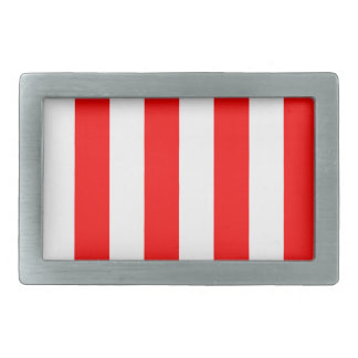 Stripes - White and Red Belt Buckle