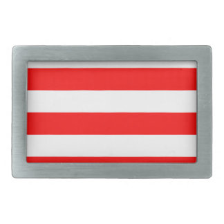 Stripes - White and Red Belt Buckles