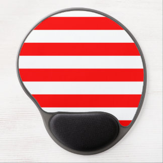 Stripes - White and Red Gel Mouse Mats