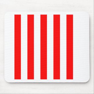 Stripes - White and Red Mouse Pads