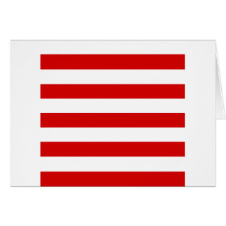 Stripes - White and Rosso Corsa Greeting Card