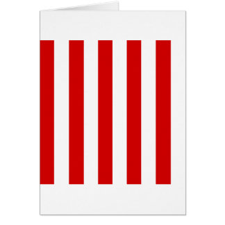 Stripes - White and Rosso Corsa Cards