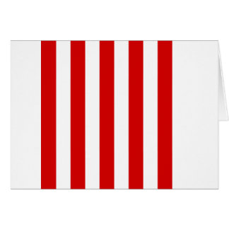 Stripes - White and Rosso Corsa Greeting Cards