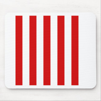 Stripes - White and Rosso Corsa Mouse Pads