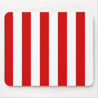 Stripes - White and Rosso Corsa Mousepads