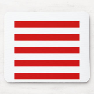 Stripes - White and Rosso Corsa Mousepad