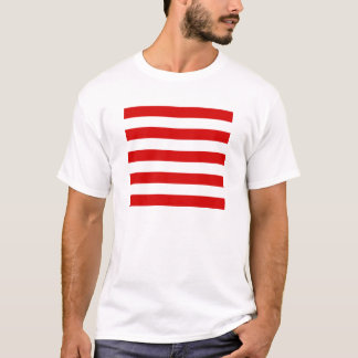 Stripes - White and Rosso Corsa T-Shirt
