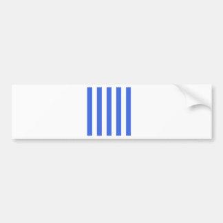 Stripes - White and Royal Blue Car Bumper Sticker