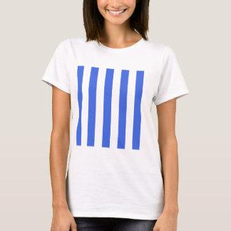 Stripes - White and Royal Blue T-Shirt