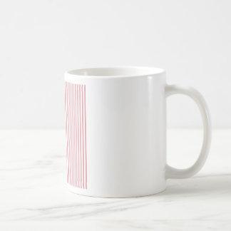 Stripes - White and Ruddy Pink Classic White Coffee Mug