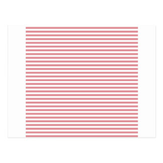 Stripes - White and Ruddy Pink Postcard