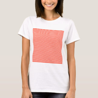 Stripes - White and Scarlet T-Shirt