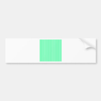 Stripes - White and Spring Green Bumper Sticker