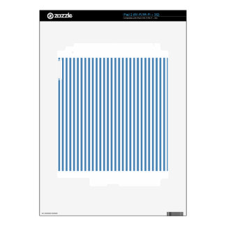 Stripes - White and Steel Blue iPad 2 Decal