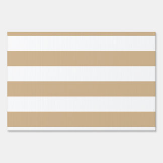 Stripes - White and Tan Sign