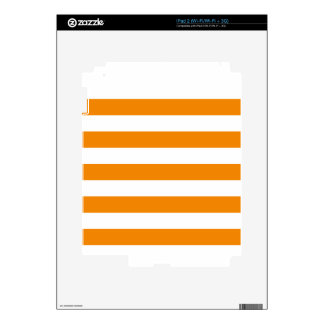 Stripes - White and Tangerine iPad 2 Decals