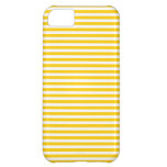 Stripes - White and Tangerine Yellow iPhone 5C Cover