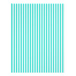 Stripes - White and Turquoise Customized Letterhead