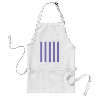 Stripes - White and Ube Adult Apron
