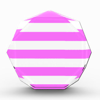 Stripes - White and Ultra Pink Acrylic Award