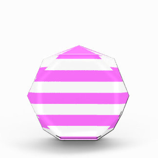 Stripes - White and Ultra Pink Award