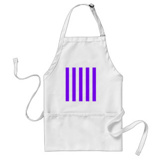 Stripes - White and Violet Adult Apron