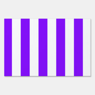 Stripes - White and Violet Sign