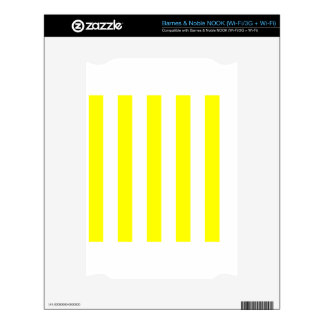 Stripes - White and Yellow NOOK Decal