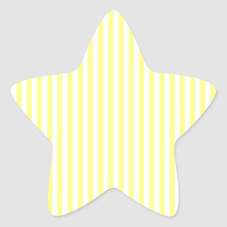 Stripes - White and Yellow Star Sticker