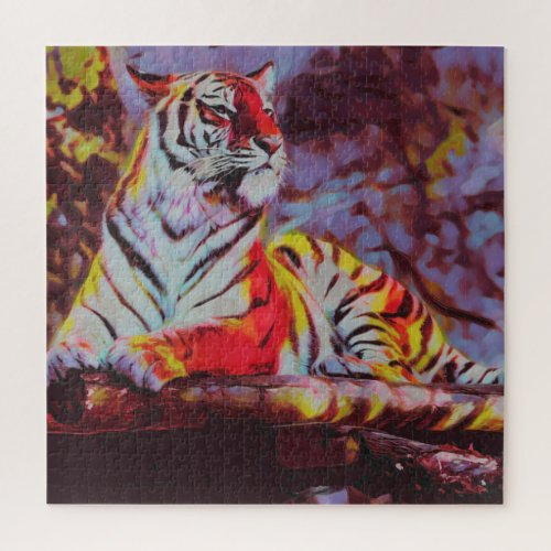 Stripes With Claws Jigsaw Puzzle
