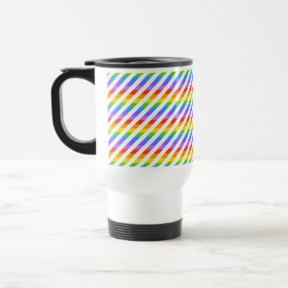 Stripes with Rainbow Colors. Travel Mug