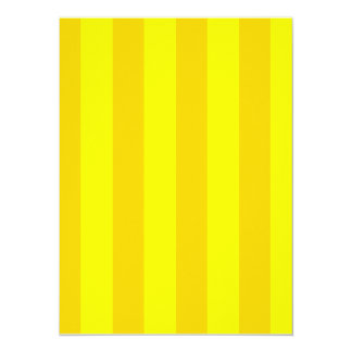 "Stripes - Yellow and Dark Yellow 5.5"" X 7.5"" Invitation Card"