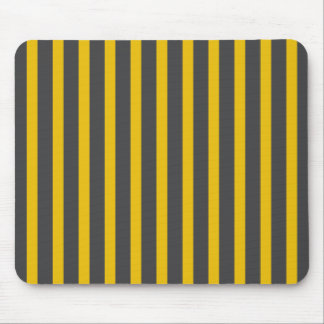 Stripes Yellow & Black Mouse Pad