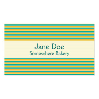 Stripes Yellow Business Card