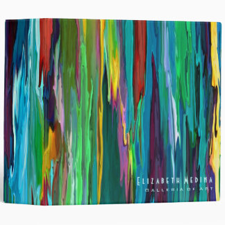 Stripesa ~Binder Photo Album Abstract Modern Retro 3 Ring Binder