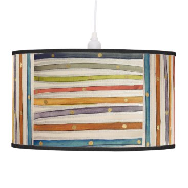 FluffysCompleatBouti Stripey Beachhouse Pendant Swag Lamp