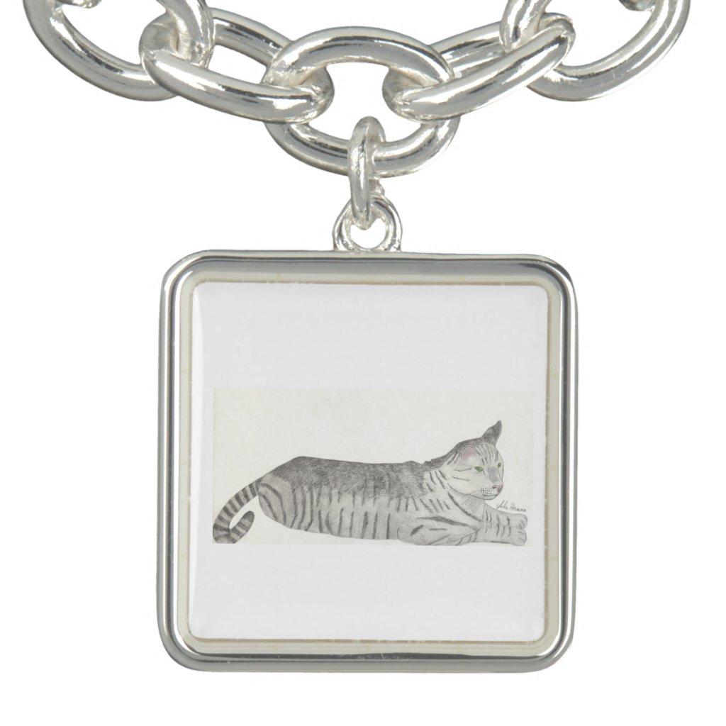 Stripey Cat Bracelet