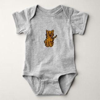 Stripey Cat – Orange Baby Bodysuit